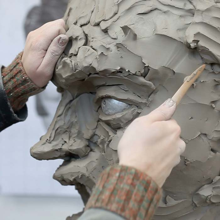 Clay sculpt of Caricature Head for ITV Big Heads