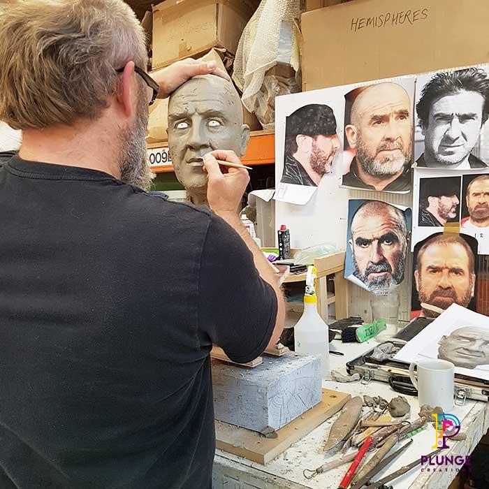 Clay Sculpture Eric Cantona Kronenbourg