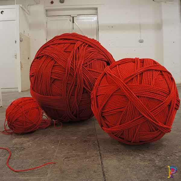 Giant balls of thread rope