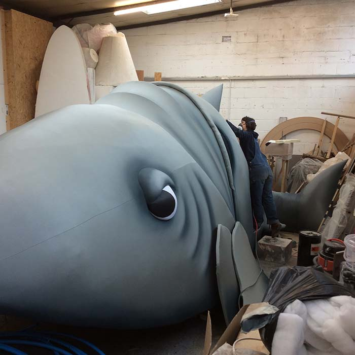 ITV Big Heads prop makers of giant shark prop