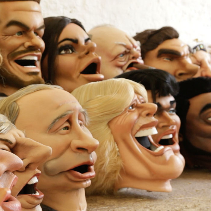 Celebrity Caricature Head Costumes for ITV Big Heads