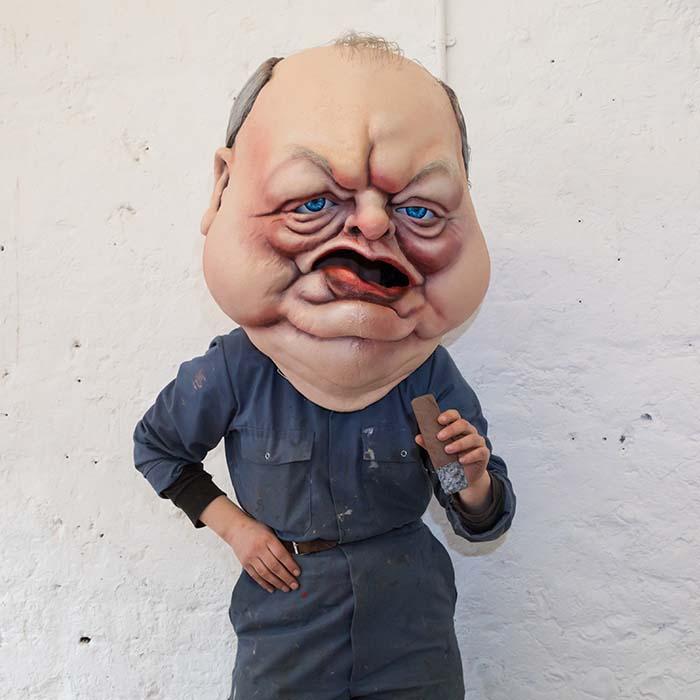 ITV Bigheads Costume Heads Winston Churchill