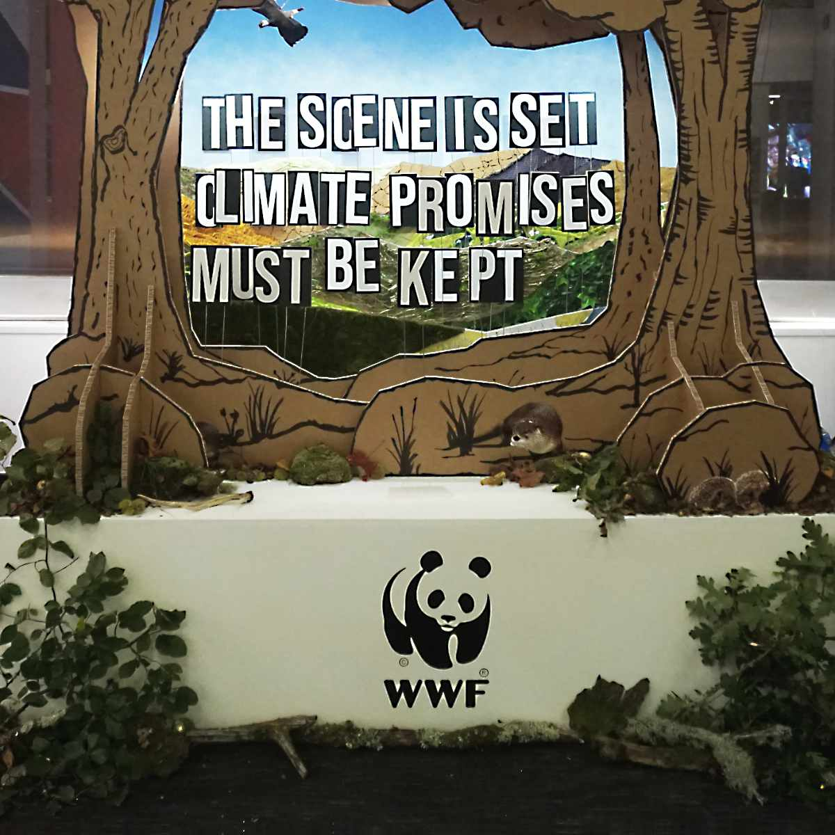 Banner WWF Stand Recycled Materials