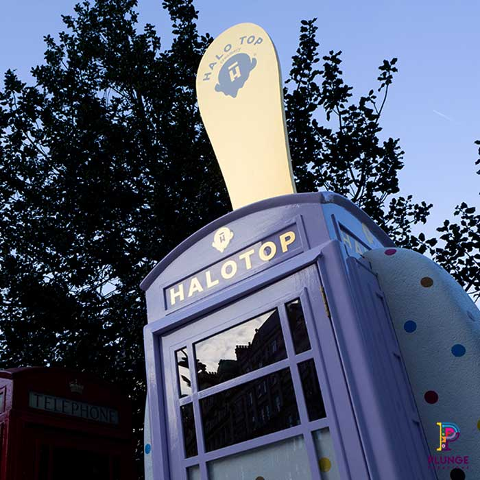 Bespoke phone box ice cream prop