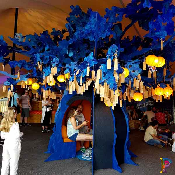 Blue Moon Wishing Tree promotional tour at Blue Dot Festival