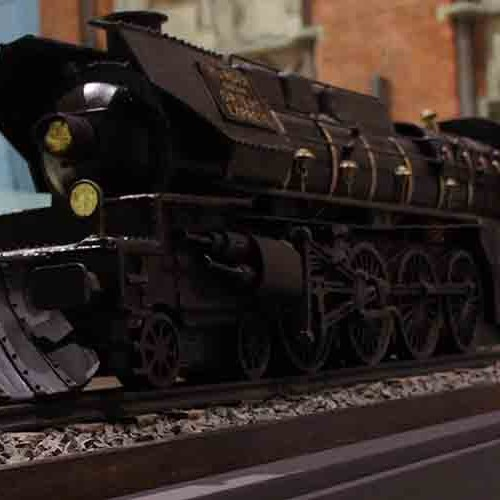 Chocolate sculpture of Orient Express Train