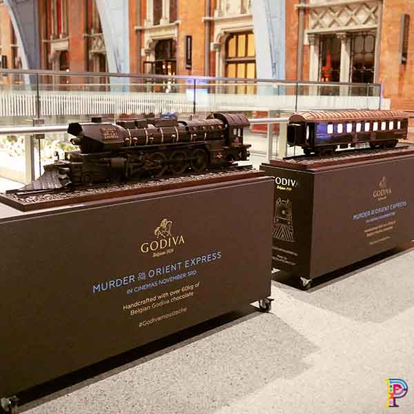 Chocolate Train Sculpture