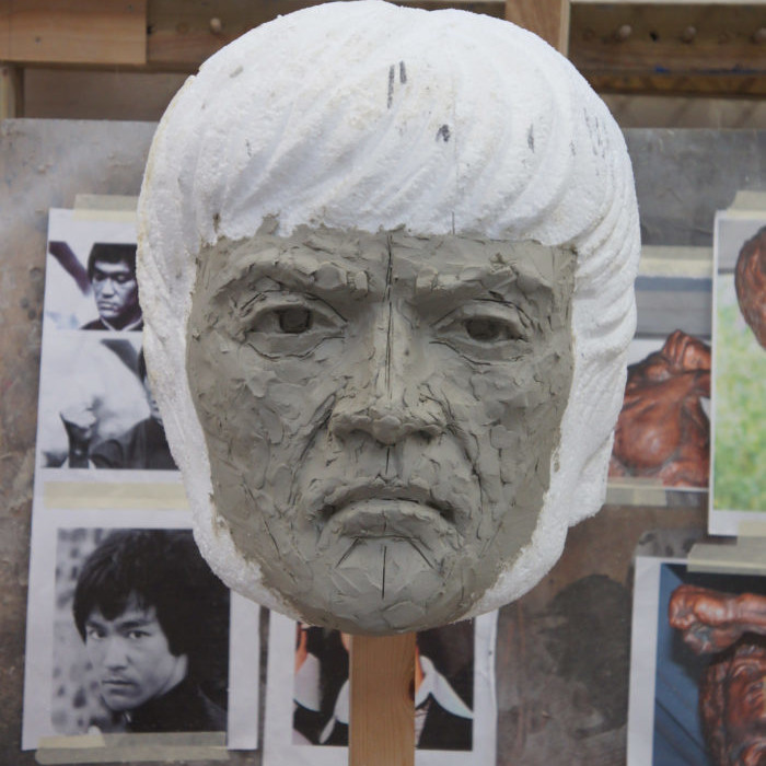 Clay Bruce Lee Bust