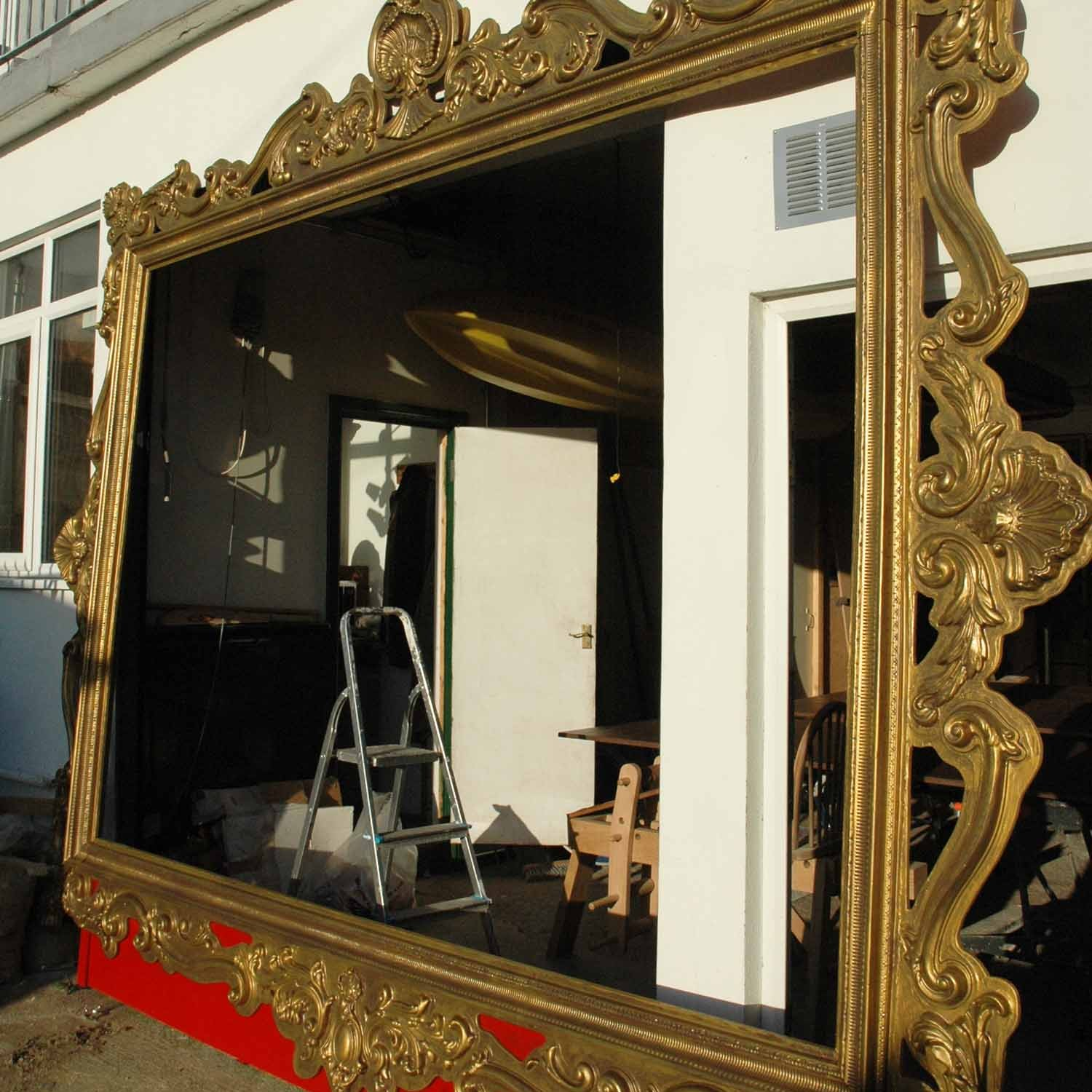 Giant gold frame ornate stage