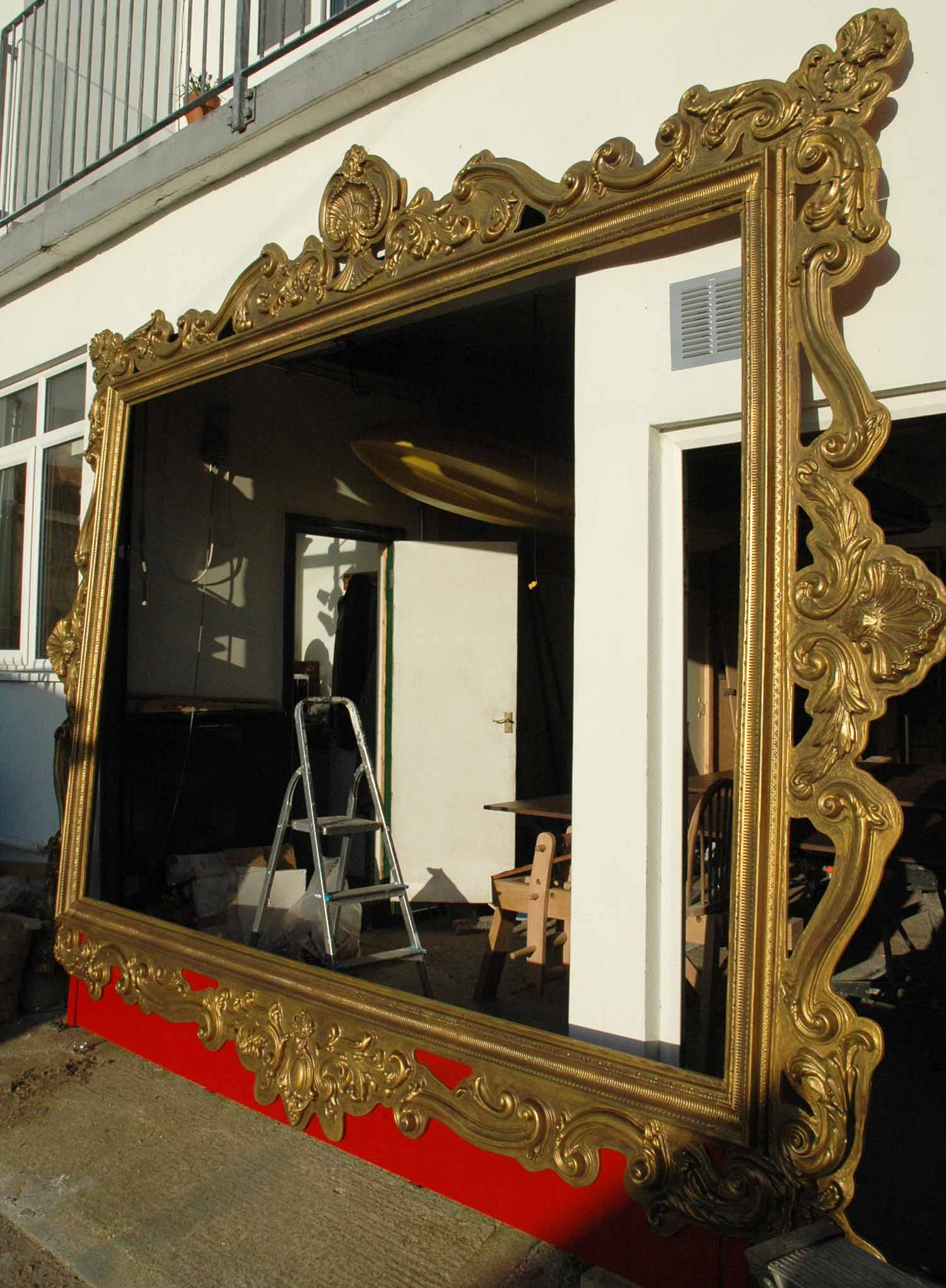 Childrens Festival: Giant gold frame stage - Plunge Creations