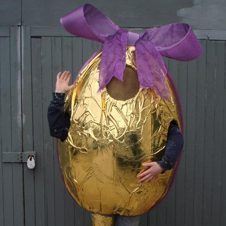 Foil wrapped chocolate easter egg costume