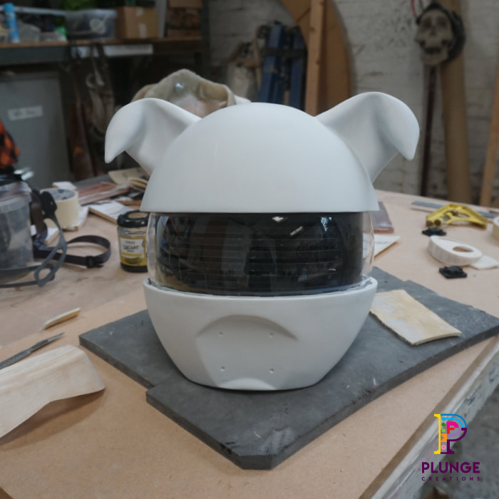 Fibreglass digital helmet
