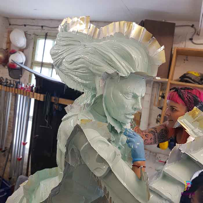 Fibreglass fabrication for 3D games sculpture