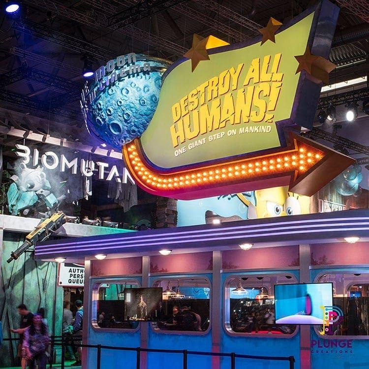 Gamescom Destroy All Human Diner Sign