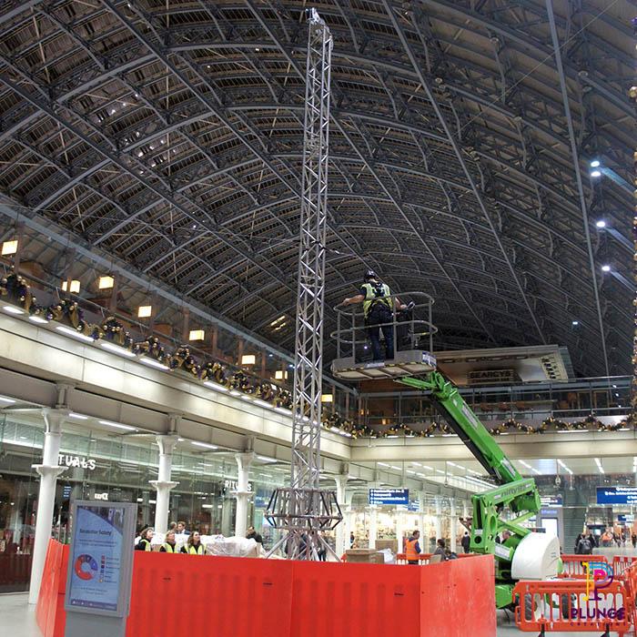 Giant Christmas Tree St Pancras Station
