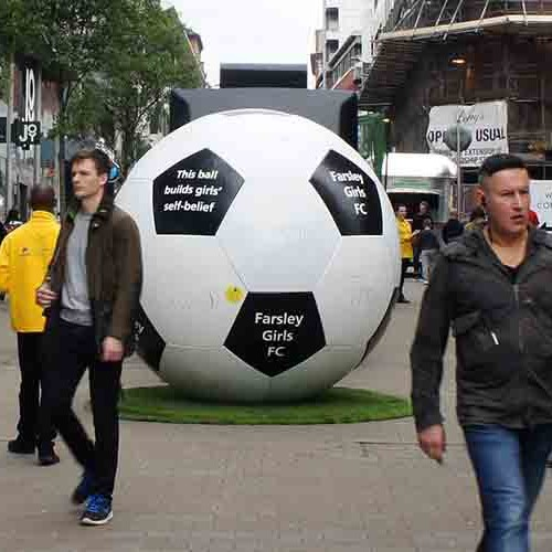 Giant promotional football