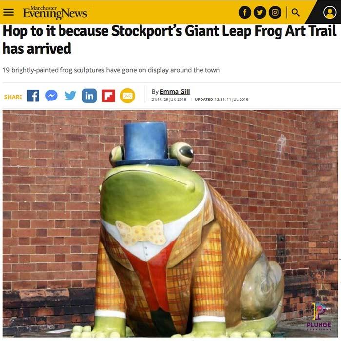 Giant fibreglass Frog Art Trail