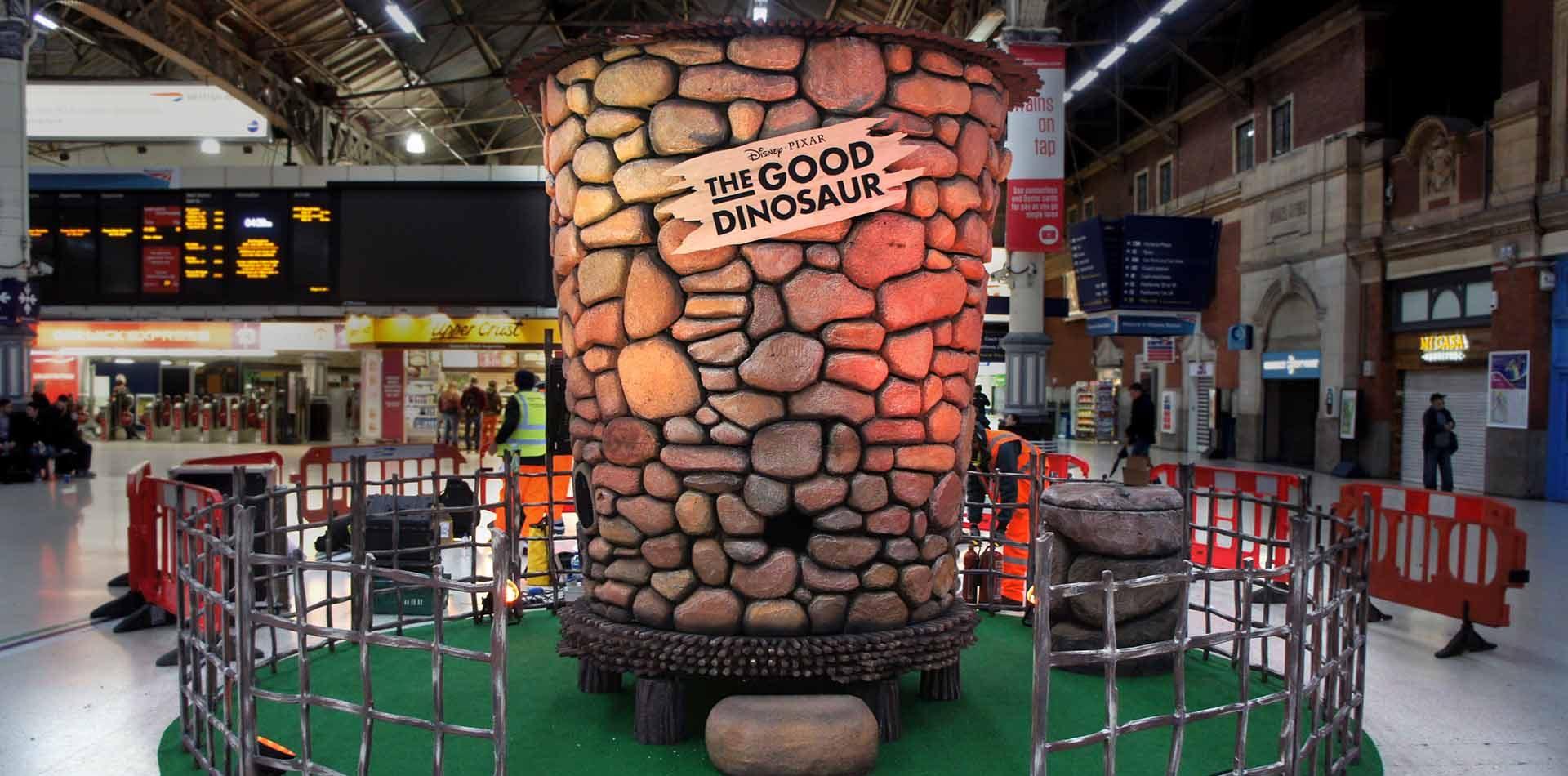 Film prop grain silo