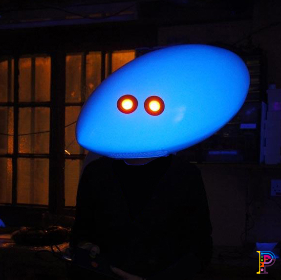 UV mask for music video costume