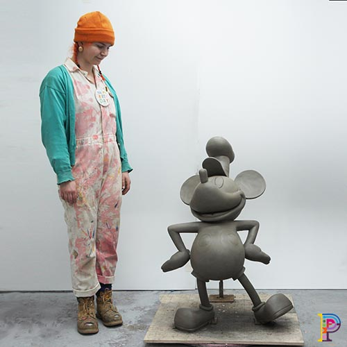 Sculpture of Steamboat Mickey Mouse for