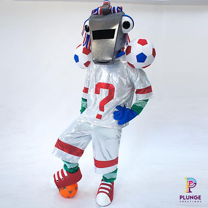 Masked Winger Soccer Aid Costume Maker Whistle Footballer
