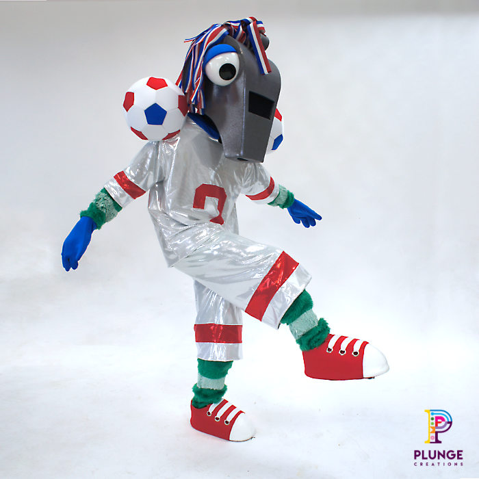 Masked Winger Soccer Aid Costume Mascot
