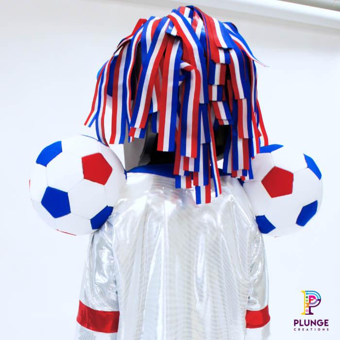 Masked Winger Soccer Aid Mascot whistle Mask