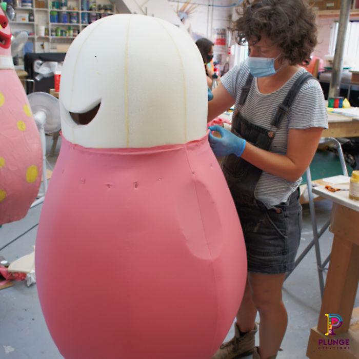 Mr-Blobby-costume-maker-foam-body