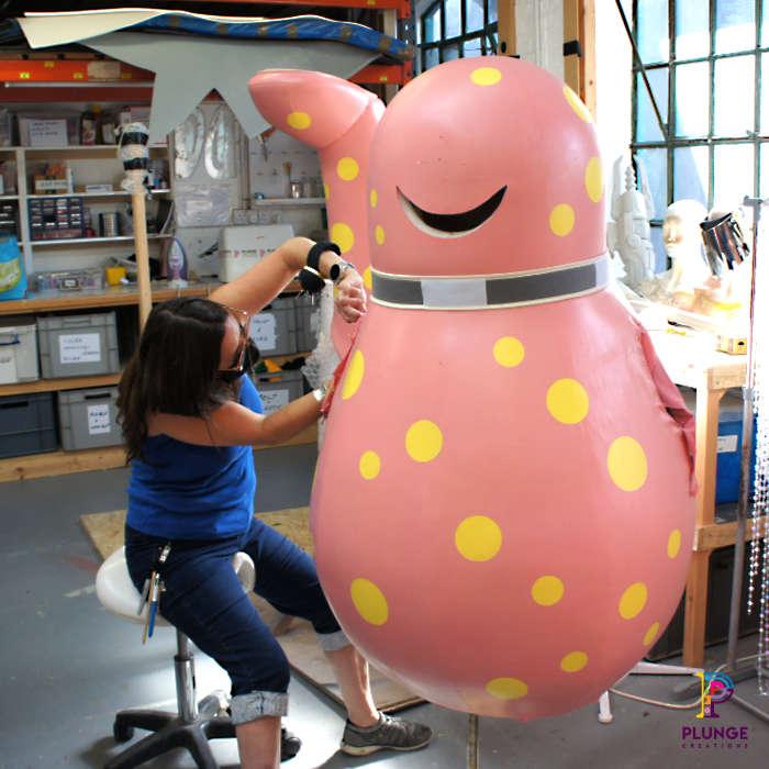 Mr-Blobby-costume-maker-plastidip-body
