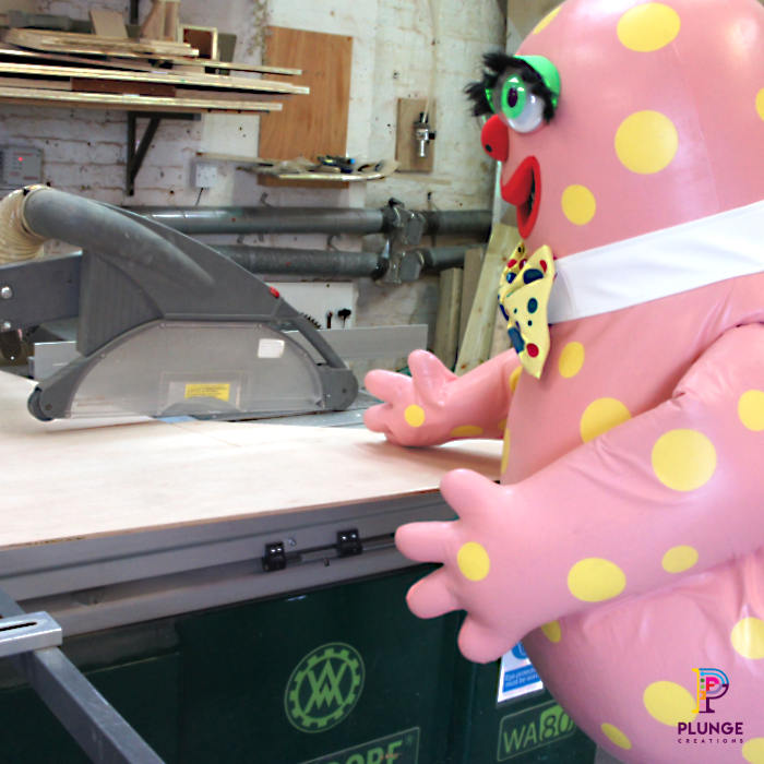 Mr-Blobby-costume-workshop