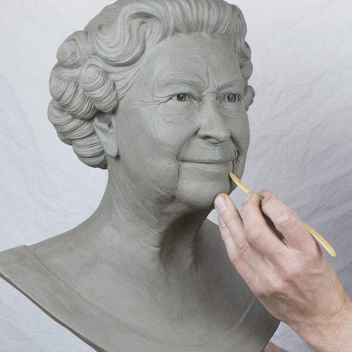 Clay bust of Queen Elizabeth