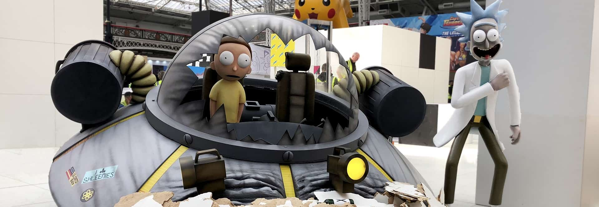 Rick & Morty crashed spaceship Sculpture