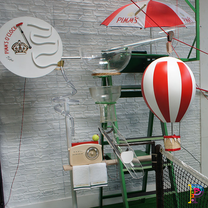 Rube Goldberg Machine using tennis items