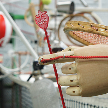Inspired by Wimbledon, a tennis rube goldberg machine