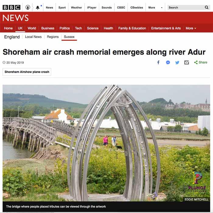 Shoreham Adur Metal Arches