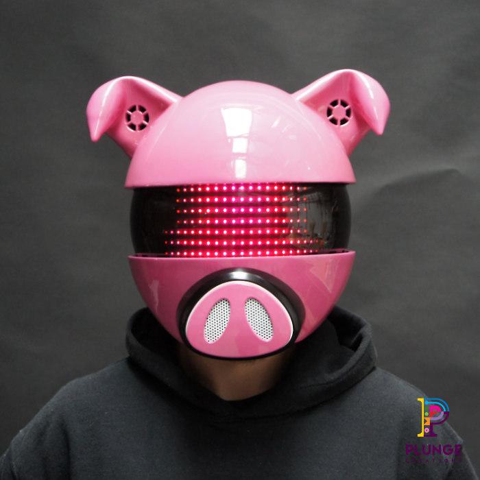 Sound-reactive-LED-mask-head