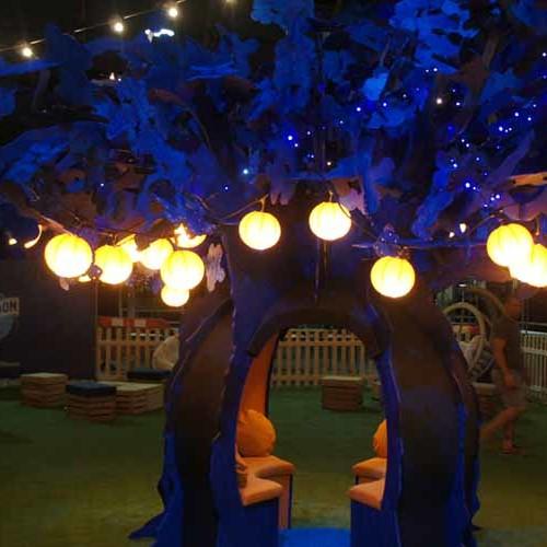 Blue Moon slot together tree sculpture
