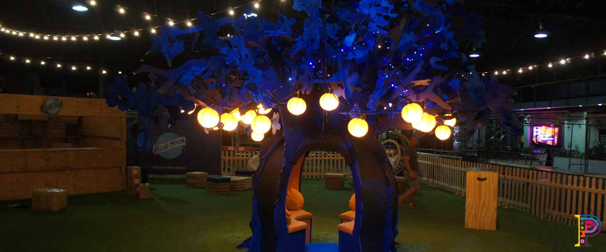 Blue Moon slot together tree sculpture