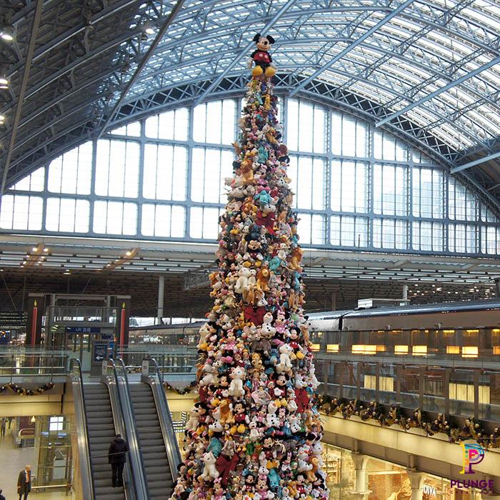 St Pancras Giant Christmas Tree for Disney
