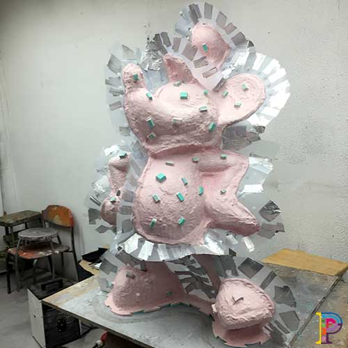 Mould Making of Disney's Steamboat Mickey Mouse sculpture