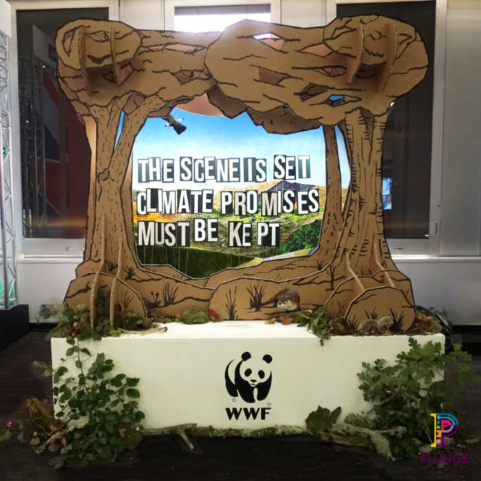 WWF Stand Recycled Materials