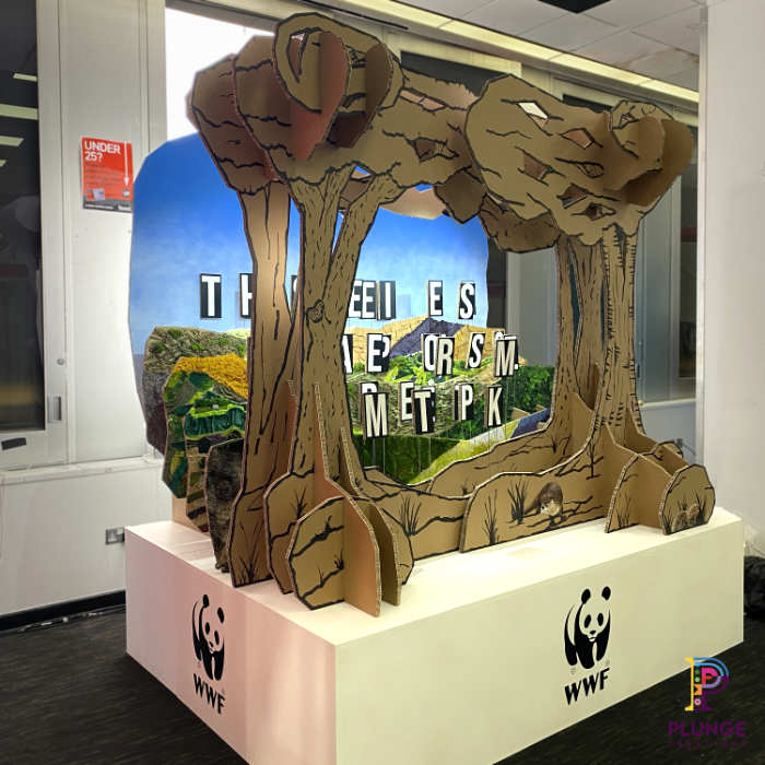anamorphic sculpture exhibition stand