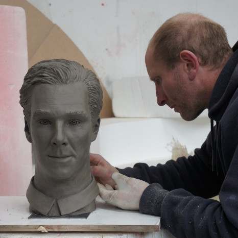 Benedict Cumberbatch clay sculpture