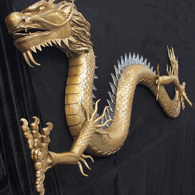 Fibreglass chinese dragon sculpture