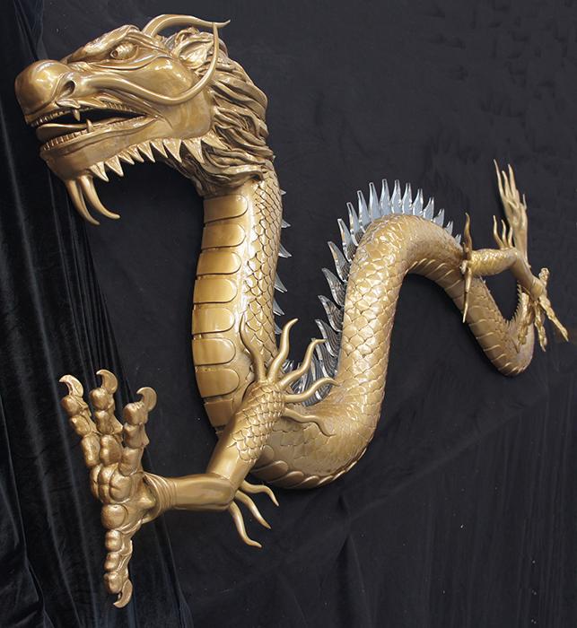 Fibreglass chinese dragon sculpture
