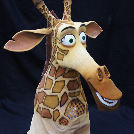 Melman, Madagascar production mask