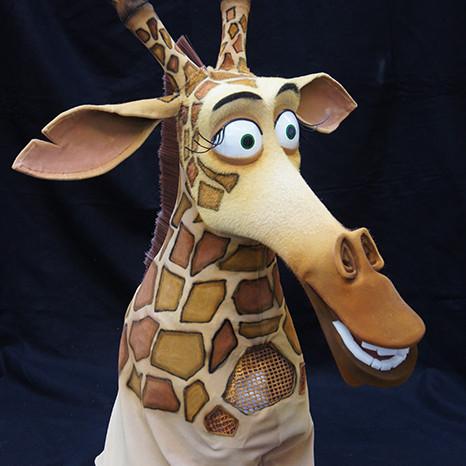 Melman, Madagascar production mask
