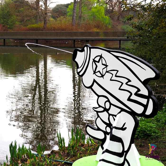 Kew Gardens Beano Water pistol outdoor props