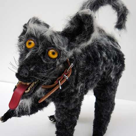 Bad taxidermy dog prop for tv and film props