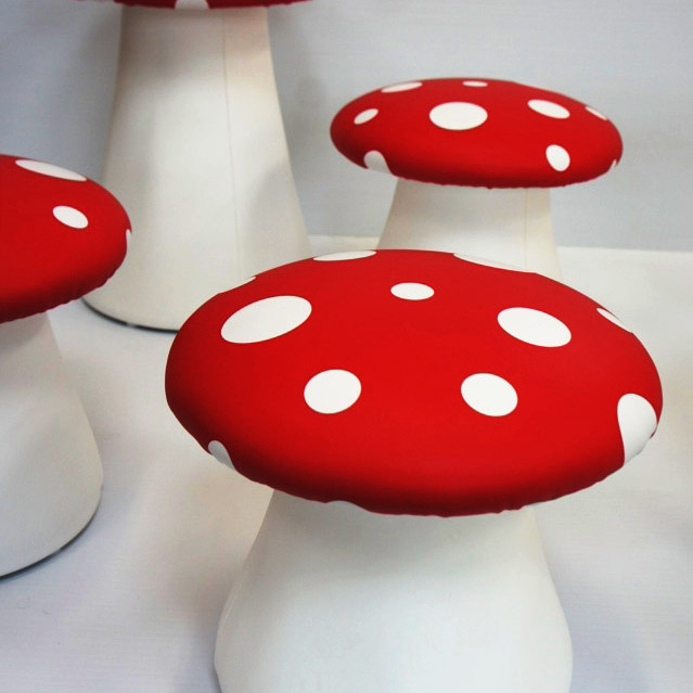 Mushroom stools for retails store display
